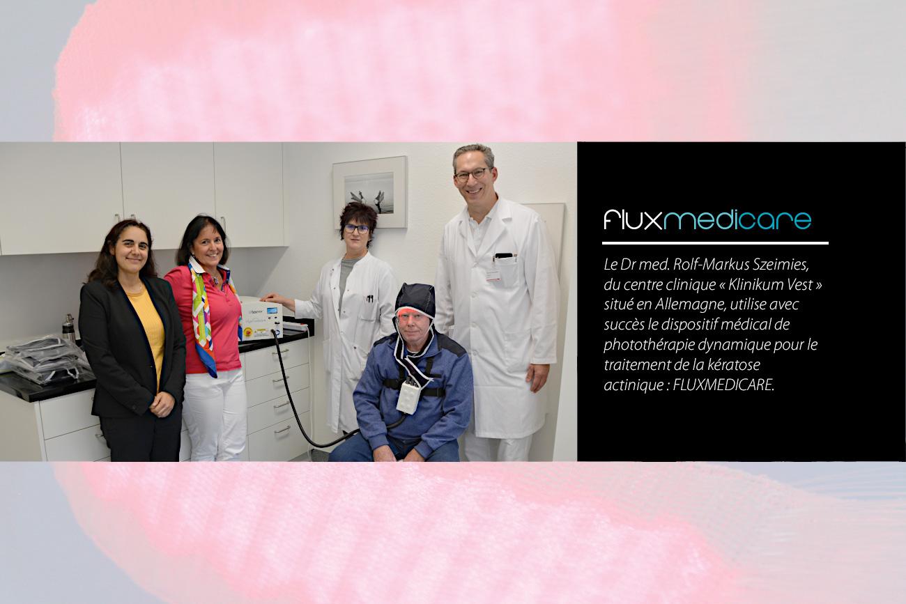 Fluxmedicare à la Klinikum Vest : Photothérapie dynamique PDT kératose actinique