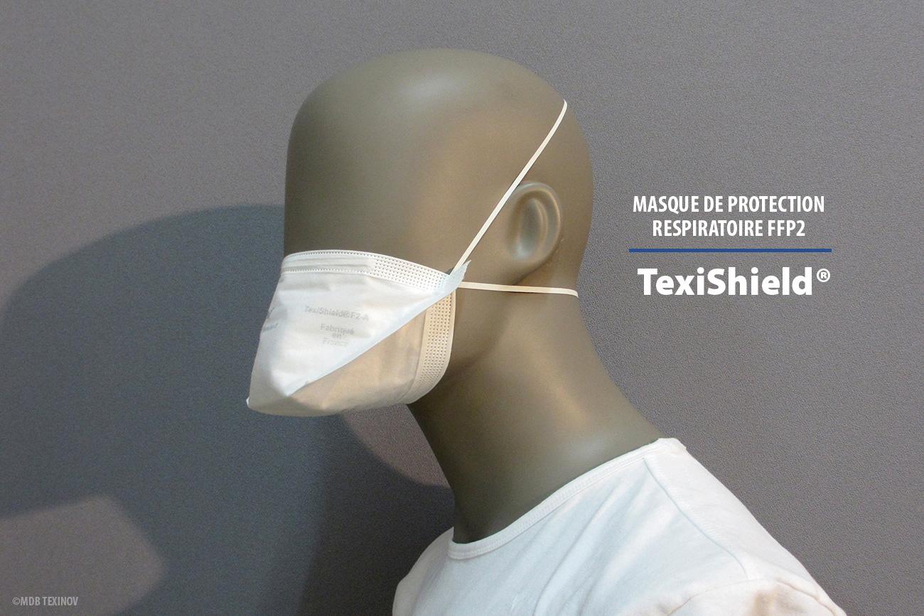 TexiShield® F2-A - masque de protection respiratoire FFP2