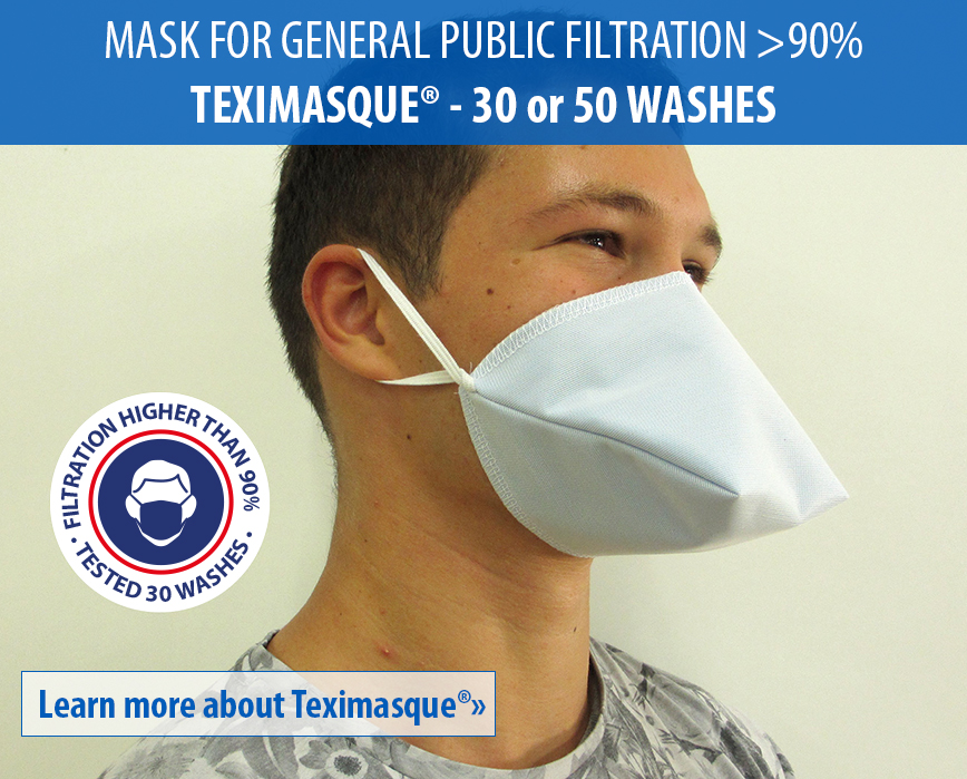 Learn more about Teximasque washable mask for professionals in contact with public catégory 1