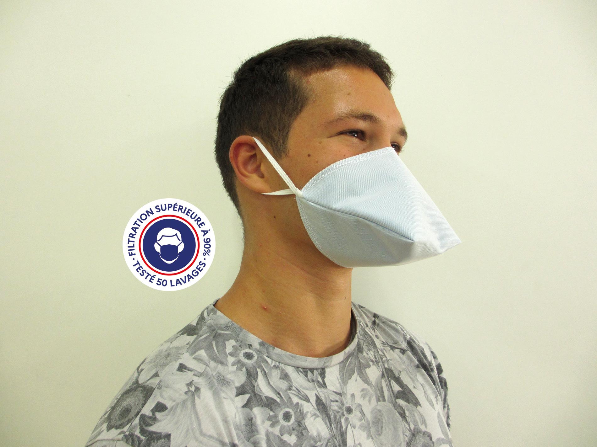 Teximasque 50 lavages - Masque Grand Public Filtration >90%