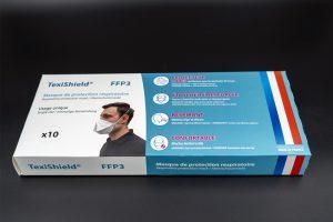 Etui - packaging 10 masques FFP3